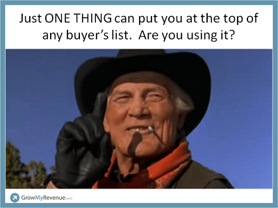 Sell Successfully with Just One Thing