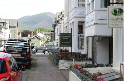 Bed & Breakfast options line the streets of Keswick, Cumbria